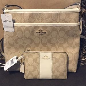 Coach Crossbody with Matching Wristlet